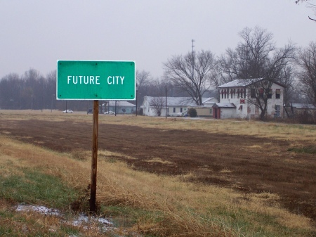 sign to 'future city'